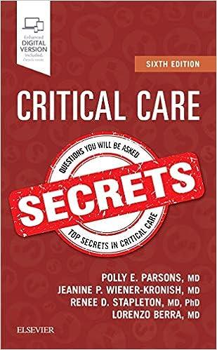 Critical Care Secrets, 6e por Polly E. Parsons Md epub
