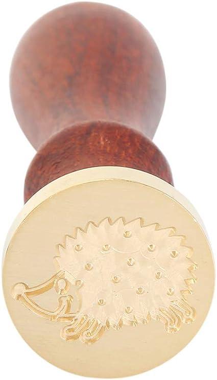 Prosperveil - Sello de cera para boda con mango de madera para invitación, sobres de cartas, decoración de manualidades Erizo: Amazon.es: Hogar