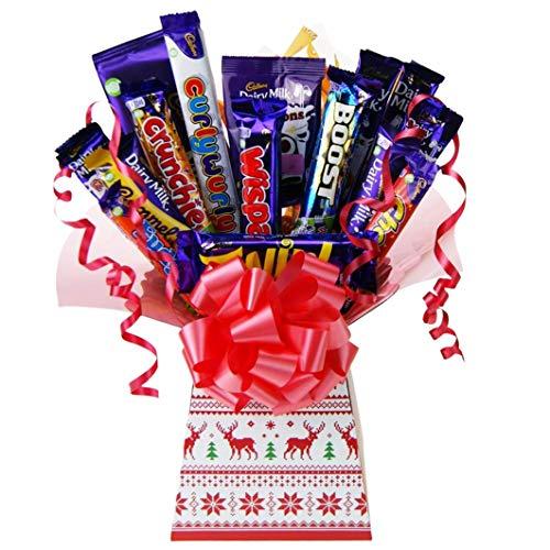 Cadburys Christmas Treats Chocolate Bouquet Tree Explosion Gift Hamper Selection Box – Perfect Xmas Gift (Knit)