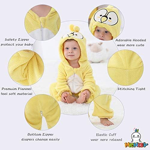 MICHLEY Disfraz Animal bebe niño y niña body pijama ropa, Amarillo ...
