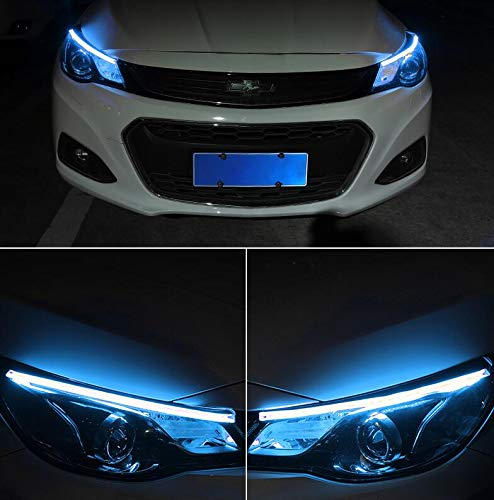 Lot de 2 phares de voiture blanc//ambre 30//60 cm DRL LED pour phare de style