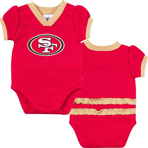 Gerber NFL San Francisco 49ers Girls Dazzle Mesh V-Neck B...