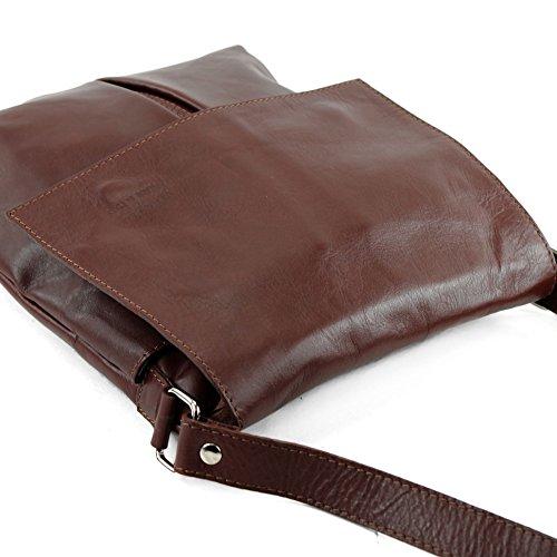 dames sac modamoda en grande Marron ital sac de épaule cuir T75 Messenger HBqrYSqX