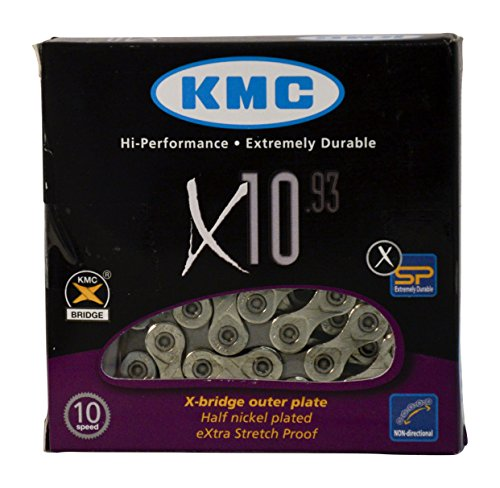 (KMC X10.93, Nickel Plated 116 Link 10 Speed Chain)