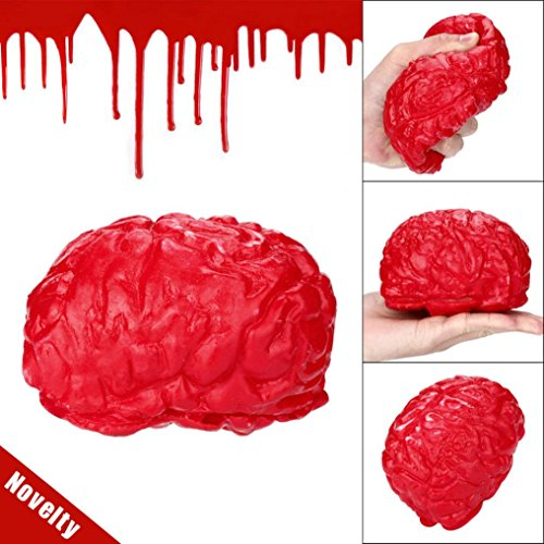 Stress Relief Squeeze Toys,Showking Novelty Silicone Stress Ball Scary Organ Brain Squeeze Toy Stress Reliever Toy For Kids And Adults (Stress Brain Reliever)