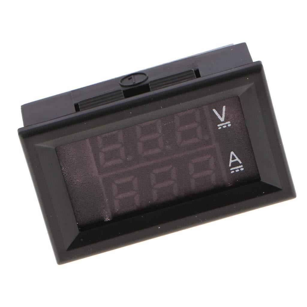 rot blau perfk Mini LED Digital Voltmeter Amperemeter Multimeter DC 100V 20A F/ür Stromversorgung von Elektrofahrzeugen
