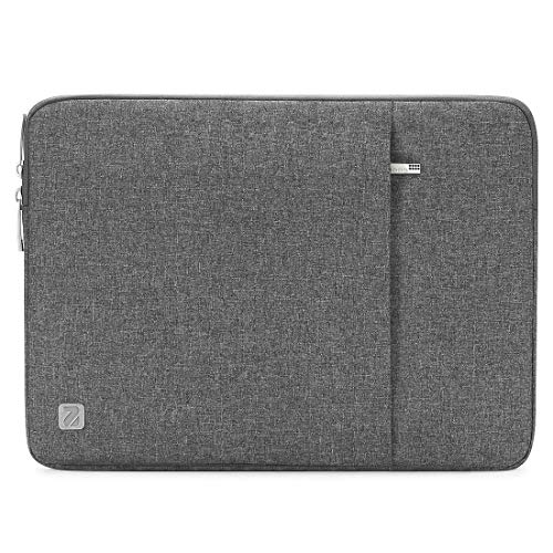 NIDOO 14 Inch Laptop Sleeve Water-Resistant Computer Case Portable Bag for 14″ Notebook/Lenovo ThinkPad X1 Carbon/Flex 14 | 4 | 6/13.5″ Surface Book/HP EliteBook/Huawei MateBook D/Acer/Dell, Grey