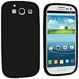 Importer520 Premium Silicone Rubber Gel Soft Skin Case Cover for Samsung Galaxy S3 S III i9300 / I535 / L710 / T999 / I747 (Black)