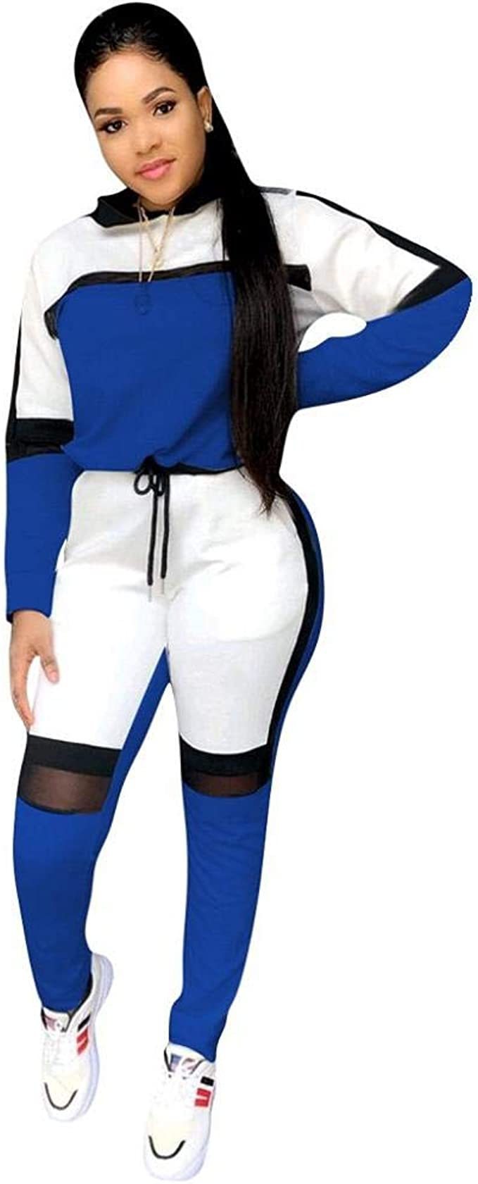 Chandal Mujer Deporte Conjunto 4 Colores Manga Larga Sudadera y ...