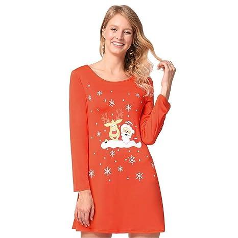 Good dress Vestidos de Navidad para Mujer Muñeco de Nieve Elk ...