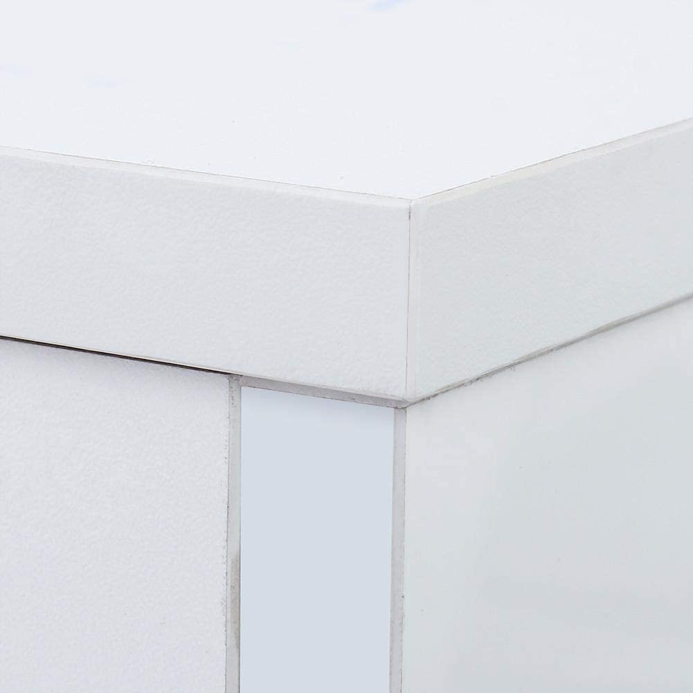 EBTOOLS Cassettiera Interna,Comodino con Cassetti,Comodini da Notte in Legno,Armadio Cassettiera con LED,45 55 40cm Blanco