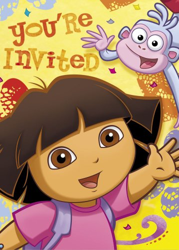 Dora the Explorer Invitations, 8ct ()