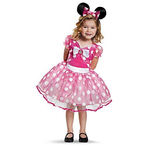 Pink Minnie Tutu Deluxe Costume, Medium (3T-4T)