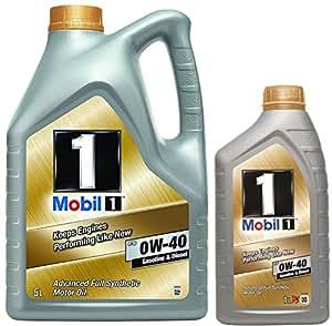 Aceite Motor MOBIL 1 FS 0W40 en 6 litros (Nueva Fórmula mejorada)