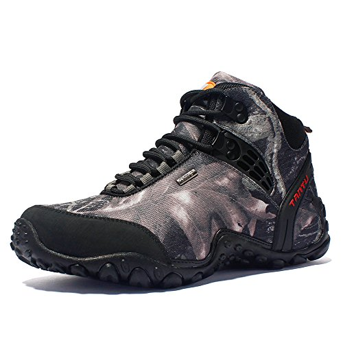 Autumn&Winter Outdoor Shoes,high Boots,Men's Climbing Shoes,Waterproof Sports Shoes,Camouflage Hiking Shoes,Anti Slip&Wearable Army Fans Cross Country Shoes (10, Shark ash)