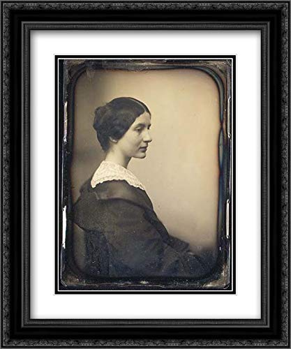 - Albert Sands Southworth - 28x36 Black Ornate Frame and Double Matted Museum Art Print - Mrs. James Thomas Fields (Annie Adams)