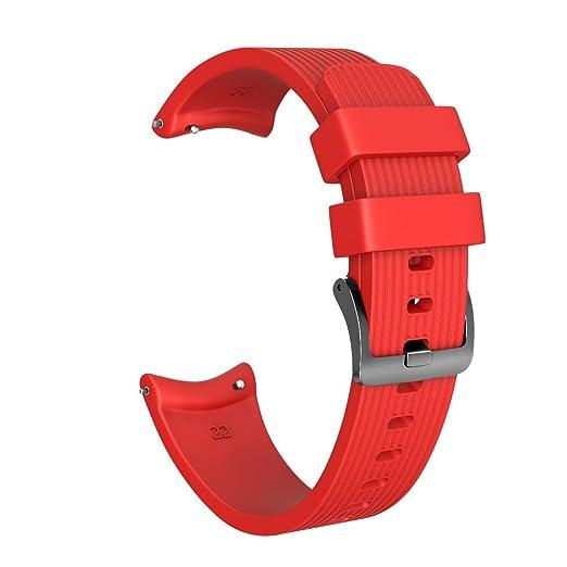para Samsung Galaxy Watch 46mm Sport Suave Correa de Repuesto de Silicona Correa de Reloj Reemplazo