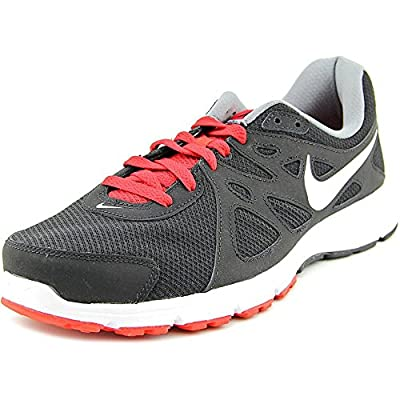 Nike Mens Revolution 2 Running Shoe (8 4E - Extra Wide, Black/Red/White)