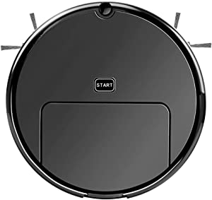 ZXPAG Robot Vacuum Strong Suction Robot Vacuum Cleaner with Max Power Suction Ideal for Pet Hair, Carpets, Hard Floors -,Black