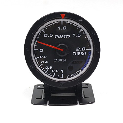 CNSPEED 60MM Car Turbo Boost Gauge with Red & White Lighting: