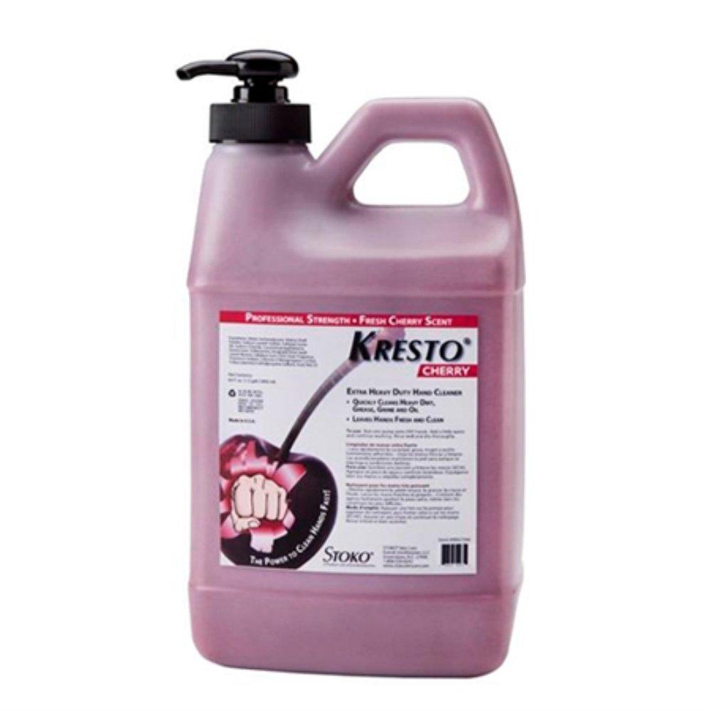 Stoko 99027564 Cherry Hand Cleaner, Pump Bottle, 1/2 gal, 4/Case