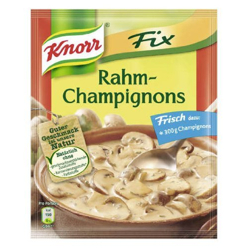 3-pack Knorr Fix Rahm Champignons (3x2 Oz) Sour Cream and Mushroom Sauce Mix (Mushroom Knorr Soup)