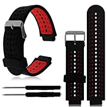 1PC Replacement Silicone Bands With 2PCS Pin Removal Tools For Garmin Forerunner 220/230/235/620/630 (No Tracker, Replacement Bands Only)