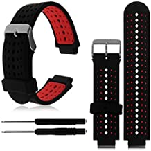 HWHMH 1PC Replacement Silicone Bands With 2PCS Pin Removal Tools For Garmin Forerunner 220/230/235/620/630 (No Tracker, Replacement Bands Only)