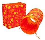 Precious Paws Petface Crinkle Bag & Tunnel Fun Exercise Kitten Cat Sensory Play Toy Set (Cat Pattern)