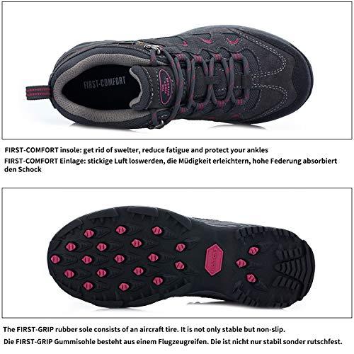 Outdoor Escursionismo Resistente da Grau ed Bassa Scarpe rosa Traspirante Dunkel e a Trekking Vita Donna da TFO Scarpe dnapqXdz