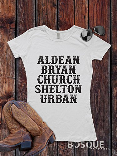 Aldean, Bryan, Church, Shelton, Urban Style Shirt The Men of Country T-Shirt Southern Style Shirt lettering - Ink Printed