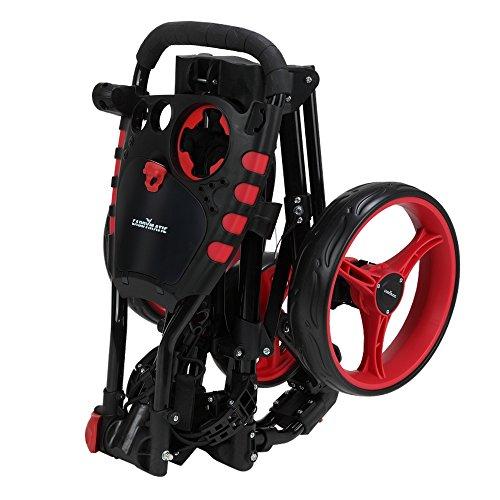 Caddymatic Golf 360° SwivelEase 3 Wheel Folding Golf Cart Black/Red by Caddymatic (Image #7)