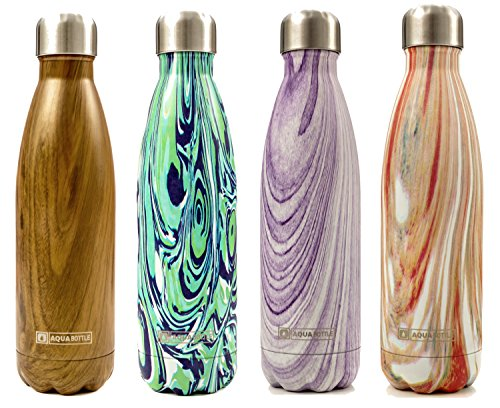 Stainless Steel Double Walled Vacuum Insulated Water Bottle | 17oz Leak-Proof Cola Shape Travel Sports Water Bottle | Keeps Your Drink Hot & Cold