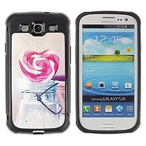 """Hypernova Defender Series TPU protection Cas Case Coque pour Samsung Galaxy S3 III I9300 [Amor del corazón del caramelo del inconformista""""]"""