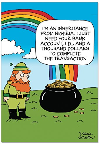 Patty O'green Costume (C1642SPG 'Scam Pot O Gold' - Funny St. Patrick's Day Greeting Card with 5