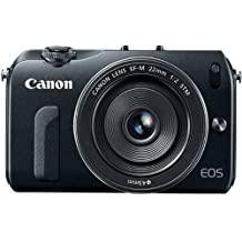 Canon EOS M 18.0 MP Compact Systems Camera with 3.0-Inch LCD and EF-M 22mm STM Lens