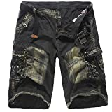 Mens Pants Clearance WEUIE Fashion Mens Casual Pocket Beach Work Casual Short Trouser Shorts Pants (29, Army Green)