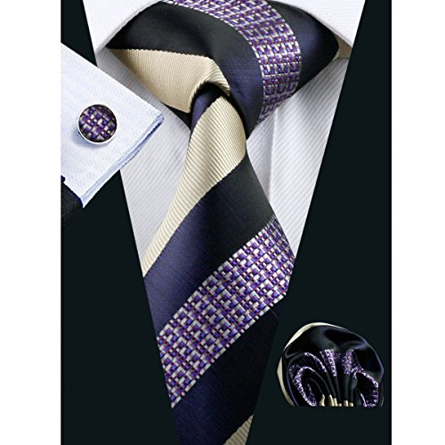 Hi-Tie New Fashion Woven Men's Necktie Set - Pocket Square Mens New