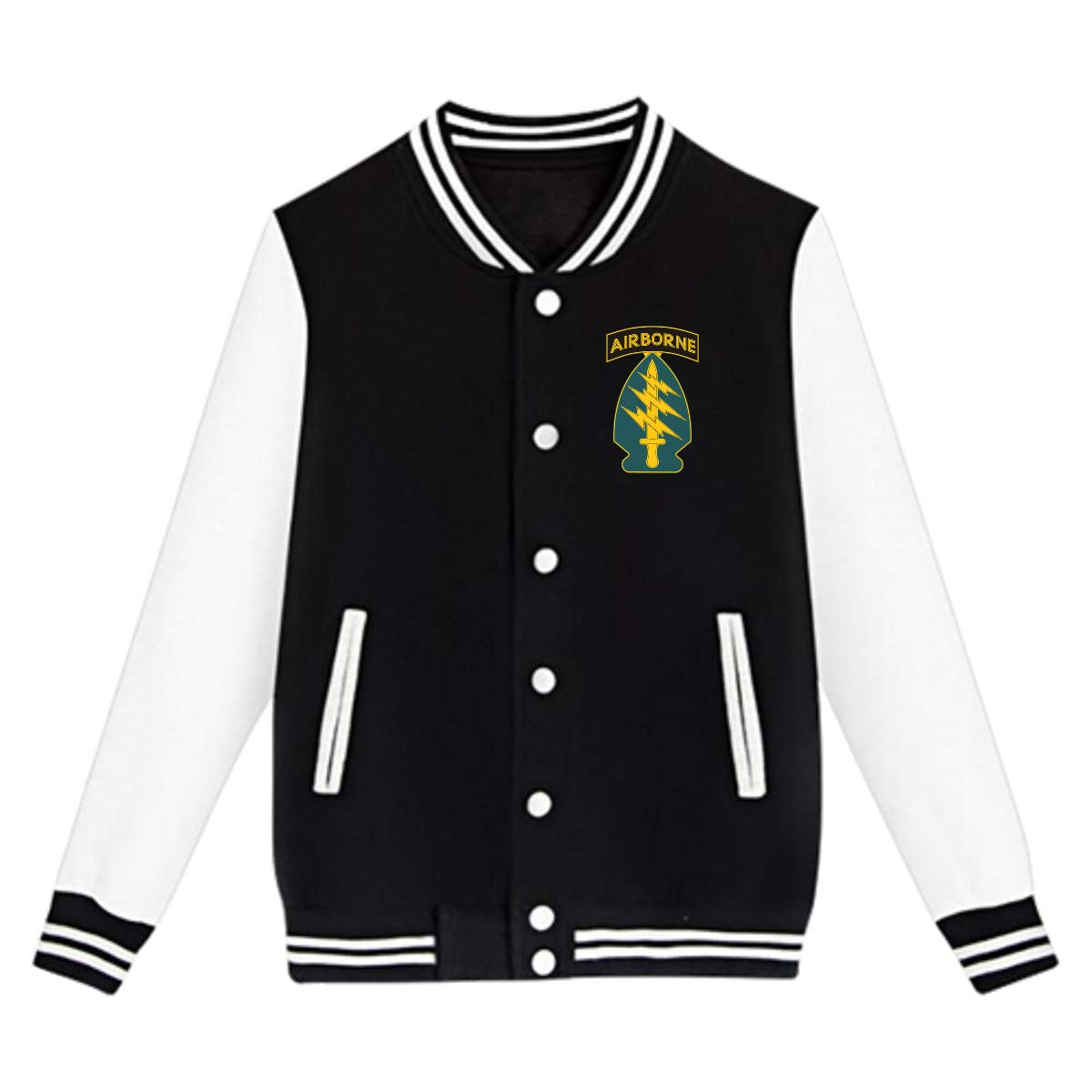 Army Special Forces Unit Youth Baseball Jackets Uniform Varsity Jackets Unisex