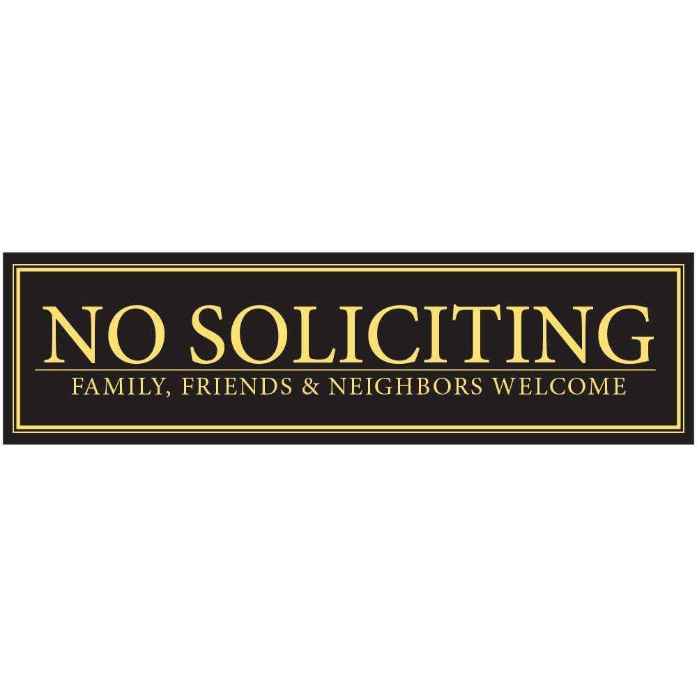 No Soliciting Unless You're Selling Girl Scout Cookies Door Magnet - Funny Magnet No Soliciting Sign For Metal Doors and Frames (2.5 x 9) Mind Your Magnets MYMNoSolicitingGSCookies