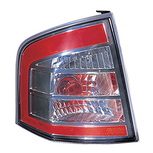 HEADLIGHTSDEPOT Tail Light Compatible with Ford Edge Left Driver Side Tail Light With Chrome Trim With Chrome Trim NSF Certified