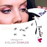 Eyelash Stapler with 45 Fake Eye Lash Buds - Fake Lashes Tool To Make Applying Mini False Eyelashes Easy - No More Tweezers - Perfect For Women & Teens