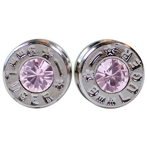 9mm bullet stud earrings - 2