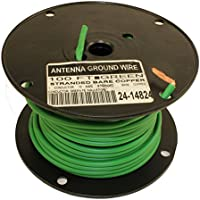 MyCableMart 100FT Antenna/Satellite Ground Wire, 10AWG, Stranded Copper Green