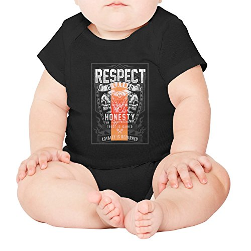 gxxiishow Respect is Earned Loyalty is Returned Personalized Baby Boy Girl Onesie