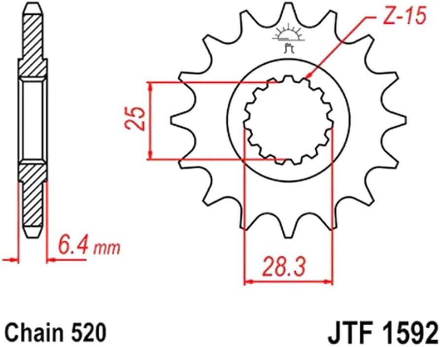 25//28mm Yamaha YFM 700 R F15 520 Fein verzahnt Innen JT Sprockets Ritzel 14Z T