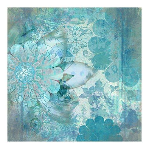 Fotomural winter flowers mural cuadrado papel pintado - Papel decorativo barato ...