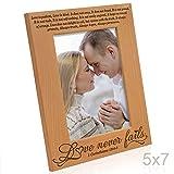 Kate Posh – Love Never Fails – 1 Corinthians 13:4-8 – Wood Picture Frame (5×7-Vertical)