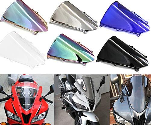 Motorcycle Double Bubble WindScreen Windshield Wind Deflectors Motorbike screen Airflow For Honda CBR600RR F5 CBR 600RR F5 2007-2012 (Deep Iridium)