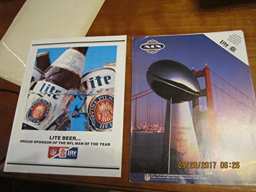 superbowl XIX Bowl lite beer roster fold out Miami Dolphins vs San Francisco 49ers ()
